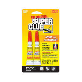 SUPER GLUE DBL PACK 2G TUBE-UNIDAD